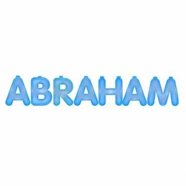 Abraham blauw opblaasletter