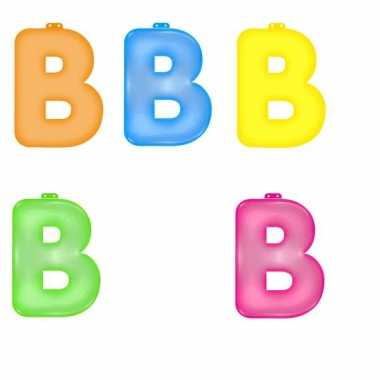 Gekleurde b opblaasletter