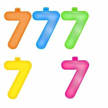 Gekleurde cijfer 7
