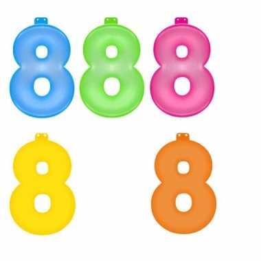 Gekleurde cijfer 8