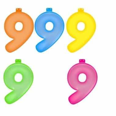 Gekleurde cijfer 9