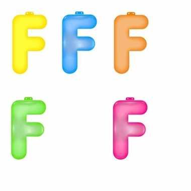 Gekleurde f opblaasletter