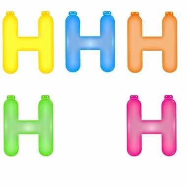 Gekleurde h opblaasletter