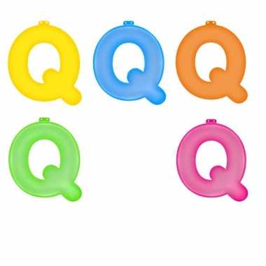Gekleurde q opblaasletter