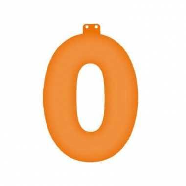 Oranje getal 0