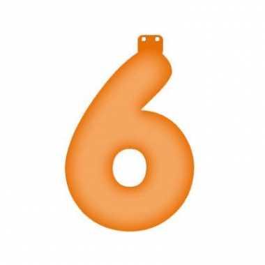 Oranje getal 6