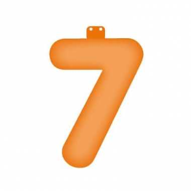 Oranje getal 7