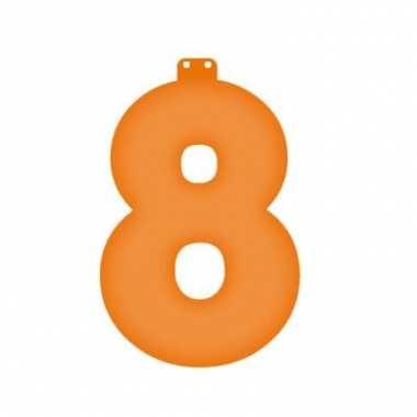 Oranje getal 8