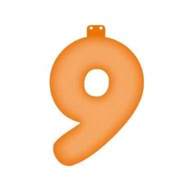Oranje getal 9