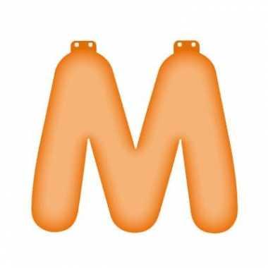 Oranje m opblaasletter