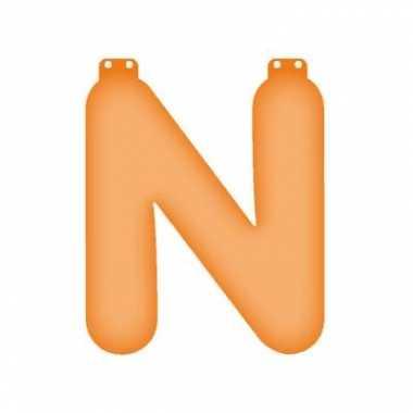Oranje n opblaasletter